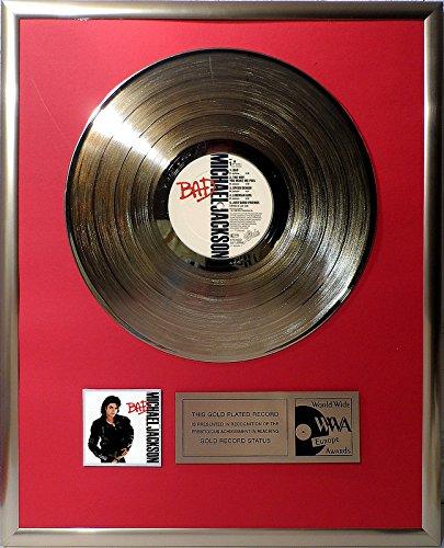 Michael Jackson - Bad goldene Schallplatte gold record