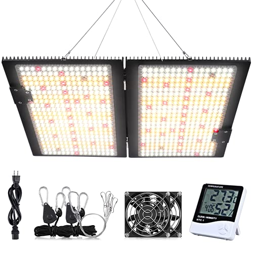 WAKYME J-2000W LED Grow Light Dimmable, 4x4ft Sunlike Full Spectrum Grow Lamp With MeanWell Driver, Waterproof Plant Light With Fan For Hydroponic Indoor Seedling Greenhouse Growing Light (700pcs LED)