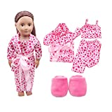 Regalos de Juguete para niños pequeños 🌲 Yesmile 5pcs Zapatos de Ropa para muñecas de 18 Pulgadas Muñecas American Girl Generation Pijamas Set Juguetes