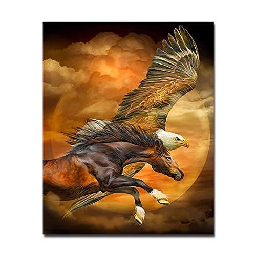 BCDJYFL 1000 Piezas Jigsaw Piezas Adultos Rompecabezas Productos Animales Flying Eagle Horse para Infantiles Adolescentes Juegos de Rompecabezas