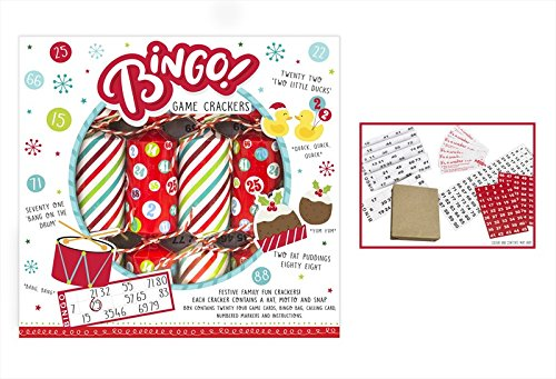 TOYLAND Bingo Game Christmas Crackers - Caja de 6