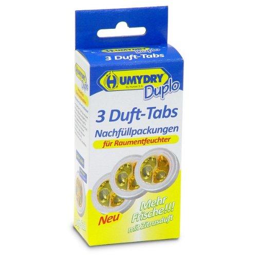 HUMYDRY Nachfüllpackungen Mini Tab 3x75g Zitrone für Luftentfeuchter ohne Strom