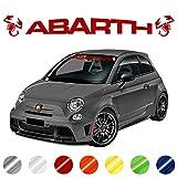 Pegatinas para Parabrisas de Coche   Adecuadas para Fiat Abarth 500, 595 y 695 (Rojo Mate)