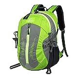 TOFINE Heavy Duty Hidden Pocket Outdoor Water Proof Travel Backpack Green 25L