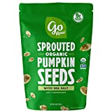 Go Raw Pumpkin Seeds with Sea Salt, Sprouted & Organic, 14 oz. Bag | Keto | Vegan | Gluten Free Snacks | Superfood