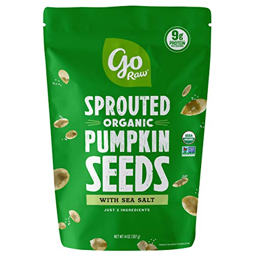 Go Raw Pumpkin Seeds with Sea Salt,…