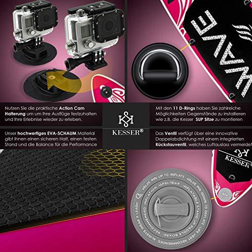 KESSER® SUP Board Set Pink 320x76x15cm - 4