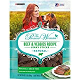 The Pioneer Woman Made in USA Facilities, Grain Free, Natural Dog Jerky Treats, Beef & Veggies Recipe Jerky Sticks - 16 Oz. Pouch
