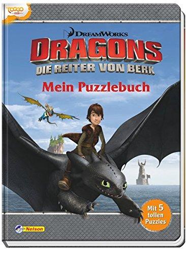 Dreamworks Dragons - Mein Puzzlebuch: Mit 5 tollen Puzzles