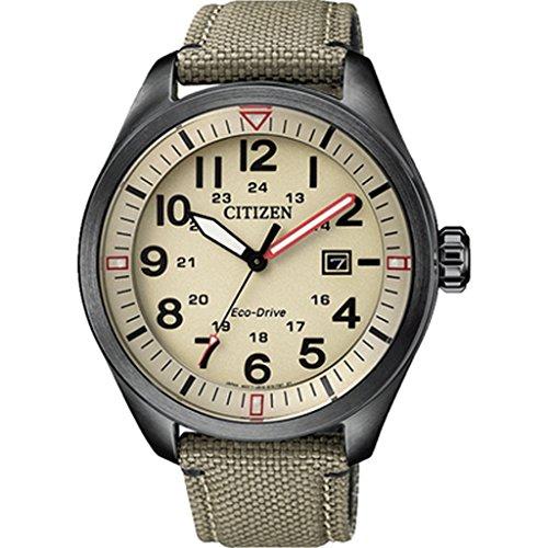 CITIZEN Herren Analog Quarz Uhr mit Nylon Armband AW5005-12X