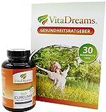 Kurkuma Bio Kapseln VitaDreams - Bio Curcuma Monatsvorrat hochdosiert & Vegan - 620 mg pro Kapsel mit Curcumin und Bio Piperin + Gesundheitsratgeber - mit Bio Zertifizierung