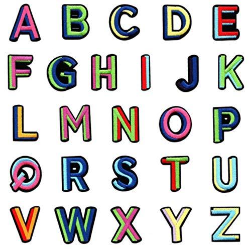 Pegatinas Para Ropa Con Plancha 3Pcs Letras Del Alfabeto Inglés Bordadas Coser En El Aplique De Parche Bagde Para Bolsa De Ropa-B