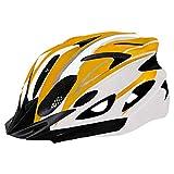 Casco de Bicicleta para Adulto Casco Ciclismo BMX Protector Ligero con Correa Ajustable y Visera Desmontable para Montar Protección de Seguridad Unisex para Carretera Montaña (Naranja, 52-61cm)