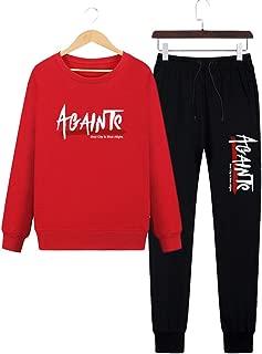 Men's Tracksuit, Autumn Fashion Simple Casual Slim Pullovers Set Two Piece Sports Suit Sweatshirts+Pants,Red,XXXXL