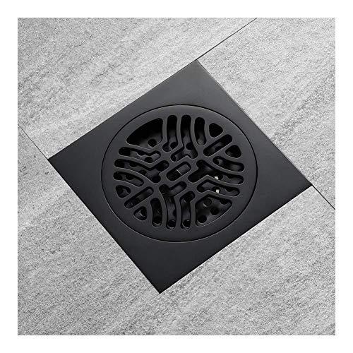 Floor drain Anti-Rost-Badezimmer Mehrschichtige Beschichtung Schwarz Messing Bodenablauf Anti-Geruch Kern Balkon Duschraum Toilette Bodenablauf