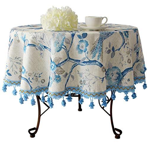 langchao Europese stijl ronde tafelkleed ronde tafelkleed salontafel doek Scandinavische landelijke Amerikaanse eettafel doek katoen kleine verse