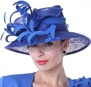 Women Hats New Designed Royal Blue Ladies Elegant Hats