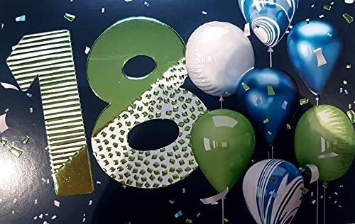 Biglietto Auguri 18 Anni Portasoldi con Busta 17 x 11,5 cm Verde