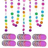 4m * 6 pezzi Striscione Carta Decorazione Colorato Appesso Festoni Ghirlanda da Appendere ...