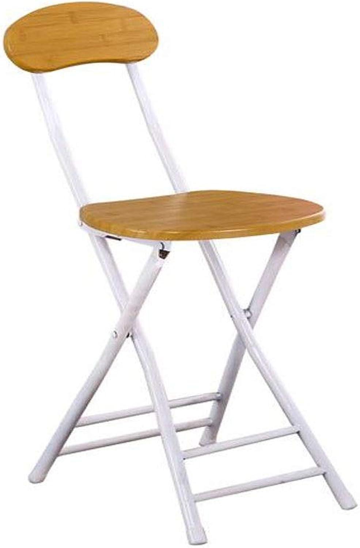 Folding Chair, Modern Minimalist Stool Home Folding Chair Adult Portable Fashion Chair Simple Folding Stool, Wood Grain color Beautiful