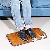 Warme Fußauflage, einstellbare elektrische Erwärmung beheiztes Brett für Office Home Fußmatte Heizung Fußwärmer Thermostat Pads 20,5 x 11,8 Zoll (EU) - 4