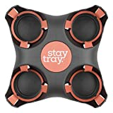 Reusable Drink Carrier by Stay Tray. Portable Cup Holder Made from Recycled Plastic. Drink Holder I Drink Caddy I Drink Tray I Coffee Cup Holder Tray I 4 Cup Carrier Tray.
