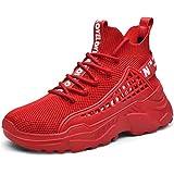 XIDISO Hombre Zapatillas Moda High-Top Sneaker Casuales...
