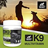 REMO K9 Multivitamin 120 Tablets (2-4 Month Supply) Skin, Coat, Hip, Joint, Heart and Overall Health Support for Your Pup. Vitamins for Dogs