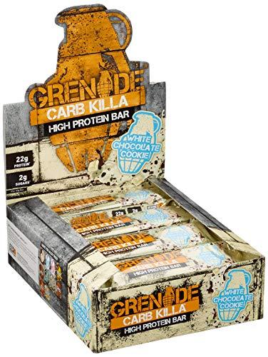 Grenade Carb Killa Hochproteinriegel, 12 X 60g - White Chocolate Cookie