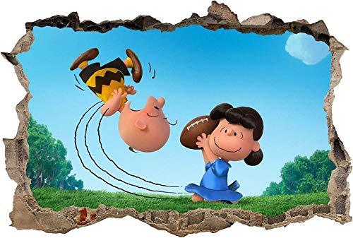 Wandtattoo Peanuts Movie Zeichentrickfigur Smashed Wall Decal Wandaufkleber Art H493