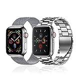 baklon 2 Pezzi Compatibile con Cinturino Apple Watch 42mm 44mm 45mm, Cinturino in Acciaio Inossidabile di Ricambio Sportivo Compatibile con iWatch series SE/7/6/5/4/3/2/1