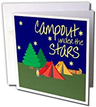 3dRose TNMGraphics Camping - Campout Under the Stars - 12 Greeting Cards with envelopes (gc_224836_2)