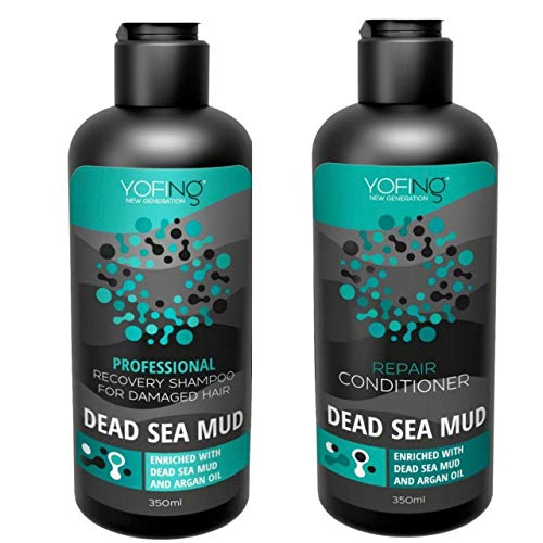 Professional Recovery Shampoo & Repair Сonditioner Enriched With Natural Dead Sea Mud Argan Oil Keratin For Damaged Strengthening Hair For Women