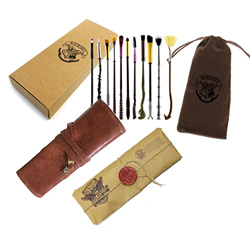 Harry Potter Make-up Pinsel mit Beutel - 11pc (11pc + Geschenkpapier + Tasche + Beutel)