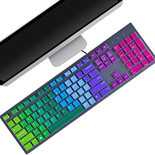 2 Pcs Colorful Keyboard Cover Compatible for Dell KM636 KB216 Dell Optiplex 5250 3050 3240 5460 product image