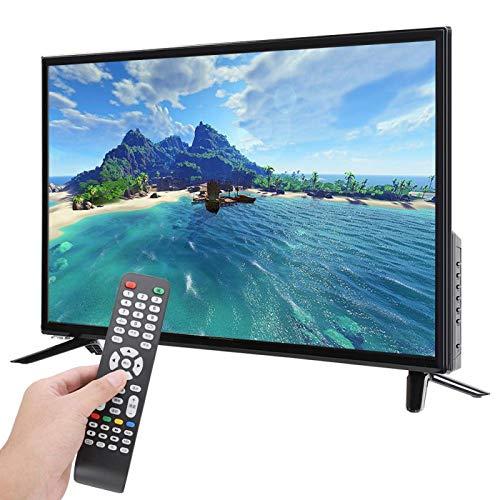 TV, admite Entrada de Antena USB HDMI RF HD LCD TV 1366X768 WiFi TV para búsqueda de información(British regulatory)