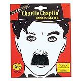 Bristol Novelty - Bigote para disfraz de Charles Chaplin (Tamaño Único) (Negro)