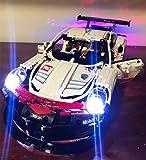 EDCAA Kit de luces LED para Technic Porsche 911 RSR Block Brick Car Building Set compatible con Lego 42096 (no incluye modelo)