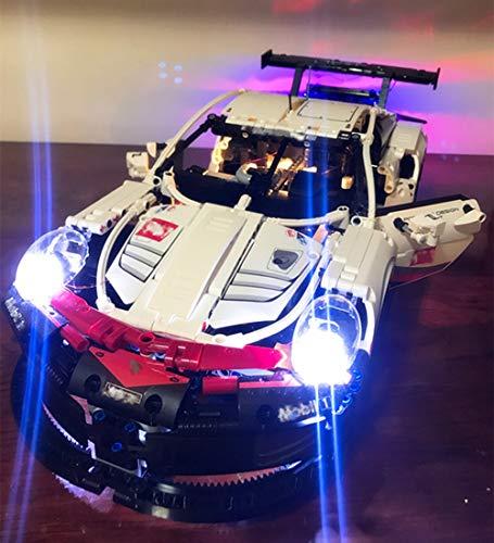 EDCAA Led Licht (nur Licht Set) für Technic Porsche 911 RSR Baustein Licht Set kompatibel mit Lego 42096 (Modell Nicht Enthalten)