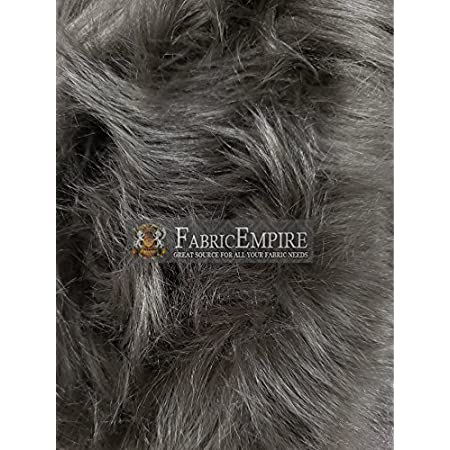 Faux Fur Long Pile Mongolian Pewter Gray Fabric  60 Wide  Sold by the yard