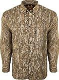 Ol' Tom Men's Mesh Back Flyweight Shirt Long Sleeve Polyester Mossy Oak.