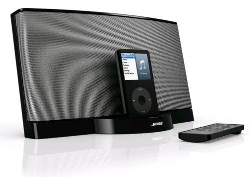 Bose SoundDock Original Schwarz–Stationen Dockingstation (Apple iPhone, iPod, Schwarz, 2,1kg, 303x 165x 169mm, Anschluss Dockingstation)