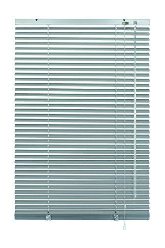 GARDINIA Alu-Jalousie, Sicht-, Licht- und Blendschutz, Wand- und Deckenmontage, Alle Montage-Teile inklusive, Aluminium-Jalousie, Silber, 80 x 140 cm (BxH)