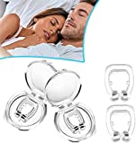 Cefanty Anti Snoring Devices Magnetic Nose Clip Natural Effective Snoring Solution Sleeping Aid Reusable Silicone Snore Stopper for Men and Women Easy Breathing (6Pcs)