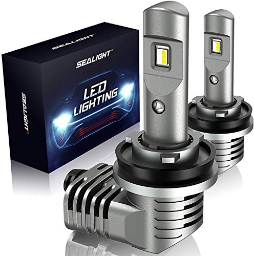 SEALIGHT H11/H8/H9 LED Headlight Bulbs 300% Brighter 1:1 Halogen Size Low Beam Fog Lights 6000K Bright White Lighting Conversion Kit with Fan IP67
