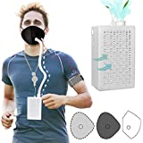 Reusable Electric Respirator,Portable Air Purifier With HEPA Filter For Outdoor Sports Working Dyspnea And So On (Electronic set)