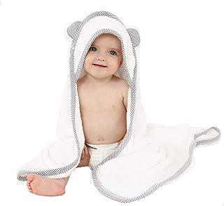 Baby Handtuch f/ür Neugeborene T/ürkis Junge und M/ädchen wei/ß//grau Babyhandtuch mit Kapuze VABY Frottee Kapuzenhandtuch mit Ohren OEKO-TEX/® aus Baumwolle und Bambus Kinderhandtuch extra gro/ß