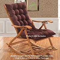 Brand - AMZ , Color - Brown Material - Micro Cotton Upholestry Material With Finest Filling Cotton Inside. Size - 38 x 18 Inches , Product Type - Chair Pad/ Cushion Package Includes - 1 Piece Chair Pad Care Instructions - Machine Washable;Hand washab...