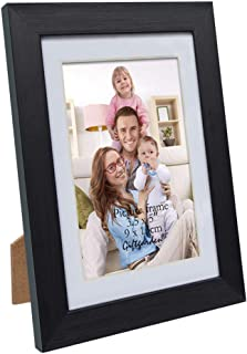 Giftgarden 3.5 x 5 Picture Frames Black Photo Frame with Mat for Wall or Tabletop Display