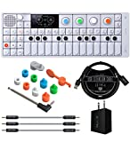Teenage Engineering OP-1 Portable Synthesizer, Sampler, and Controller Bundle with OP-1 Accessory Kit, Blucoil USB Wall Adapter, 3-FT USB 2.0 Type-A Extension Cable, and 3-Pack of 7' Audio Aux Cables